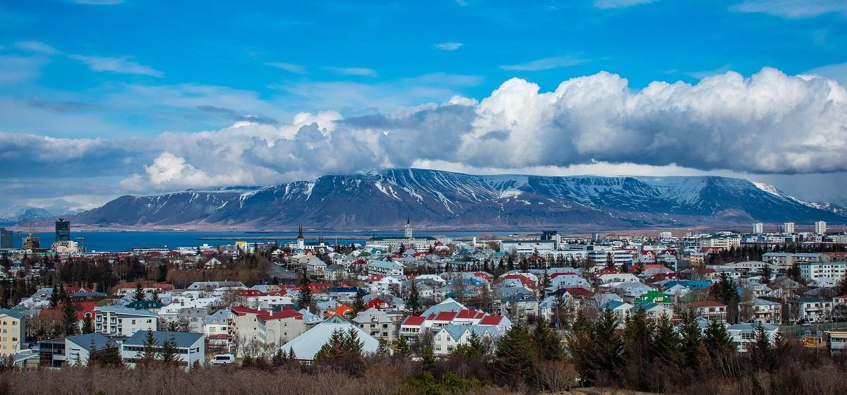 Panorama sur Reykjavik depuis l'observatoire du musée Perlan