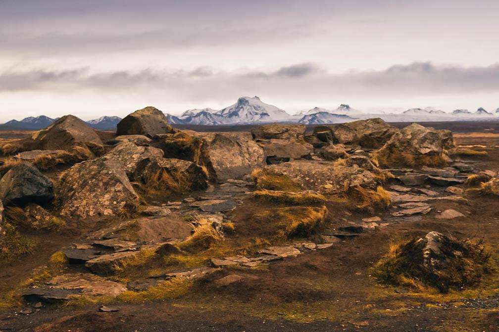 Paysage dans le cercle d'or près de Gullfoss