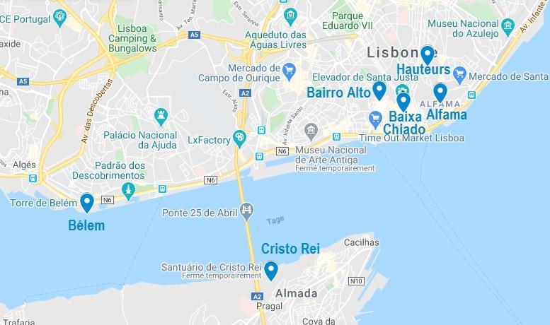 Quartiers où dormir à Lisbonne