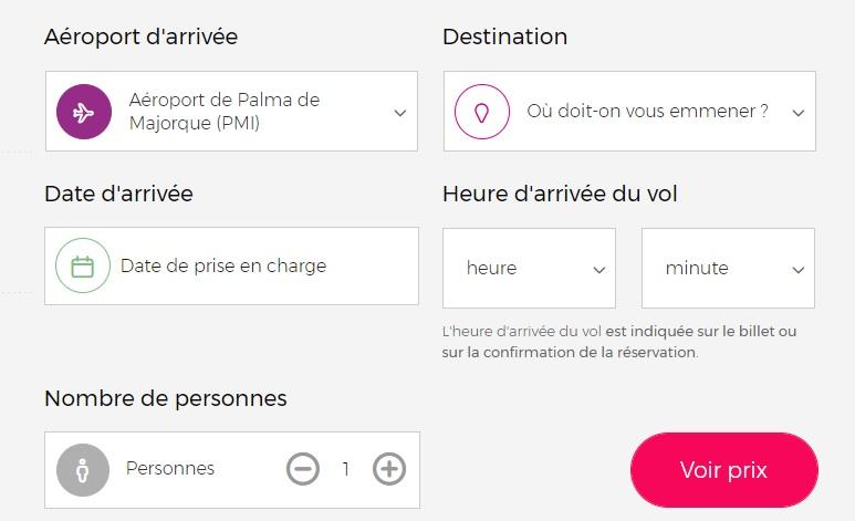Réservation d'un chauffeur à l'aéroport de Palma de Majorque