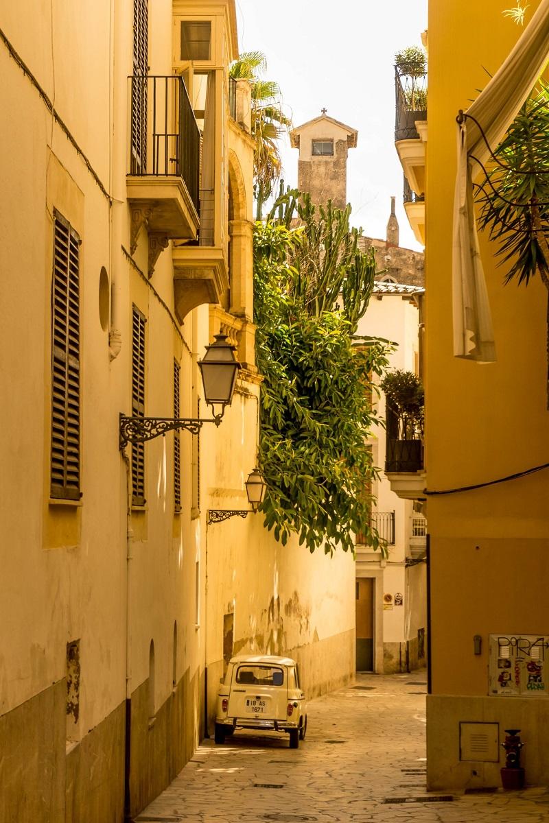 Une ruelle du centre-ville de Palma de Majorque