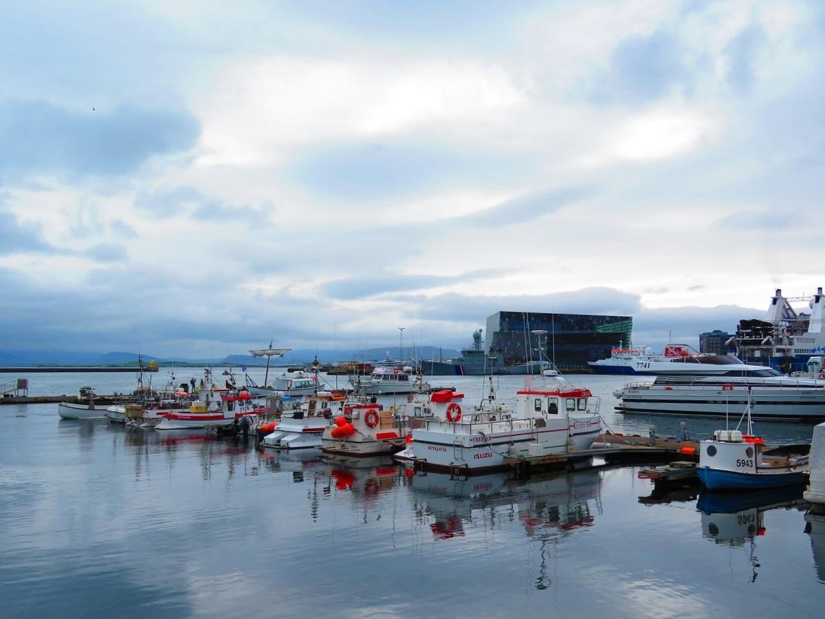 Sur le vieux-port de Reykjavik
