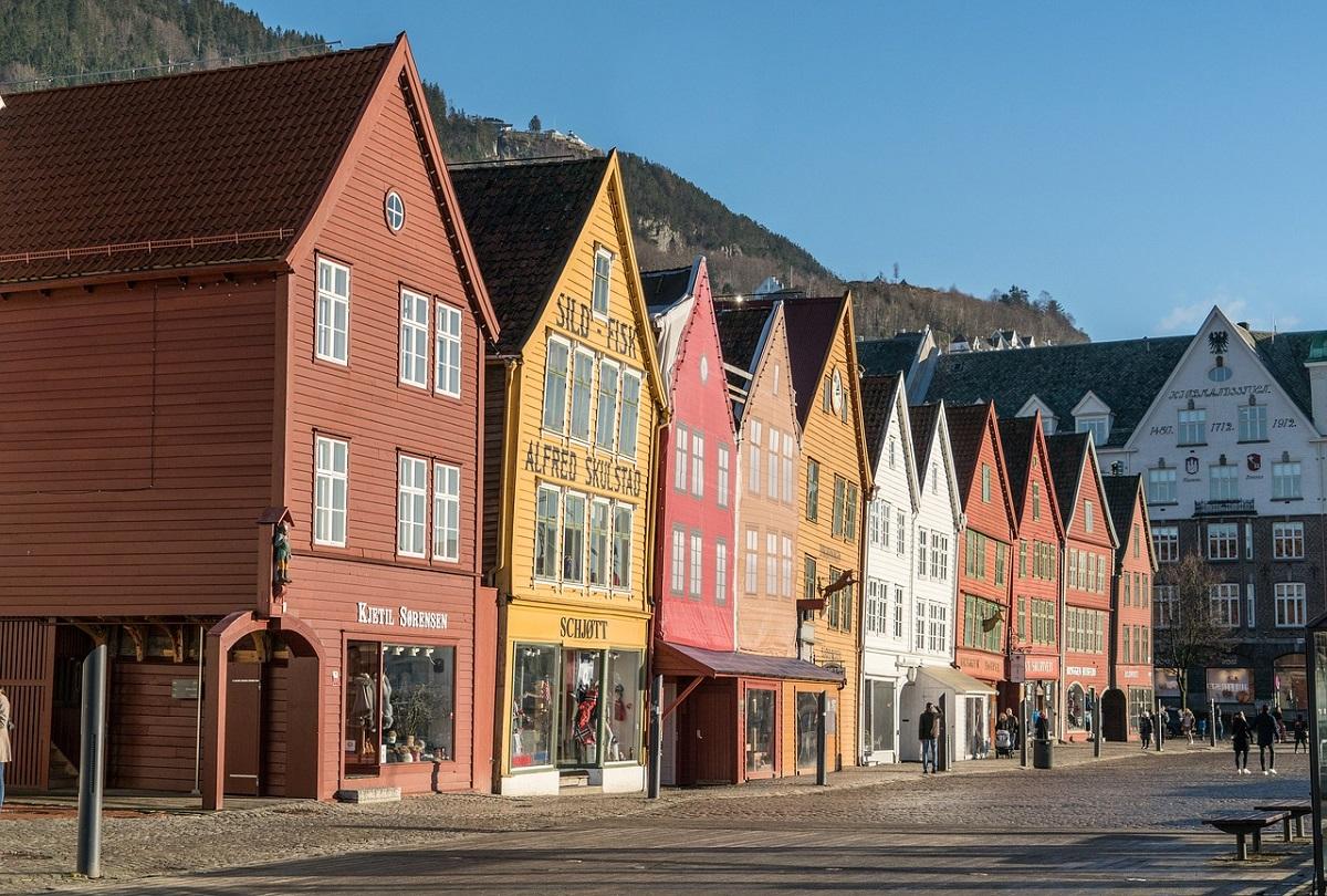 Maisons colorées de Bergen en Norvège