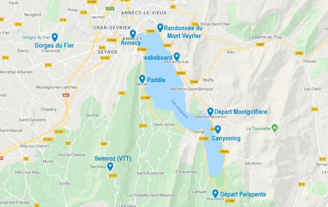 Activités dans les alentours d'Annecy