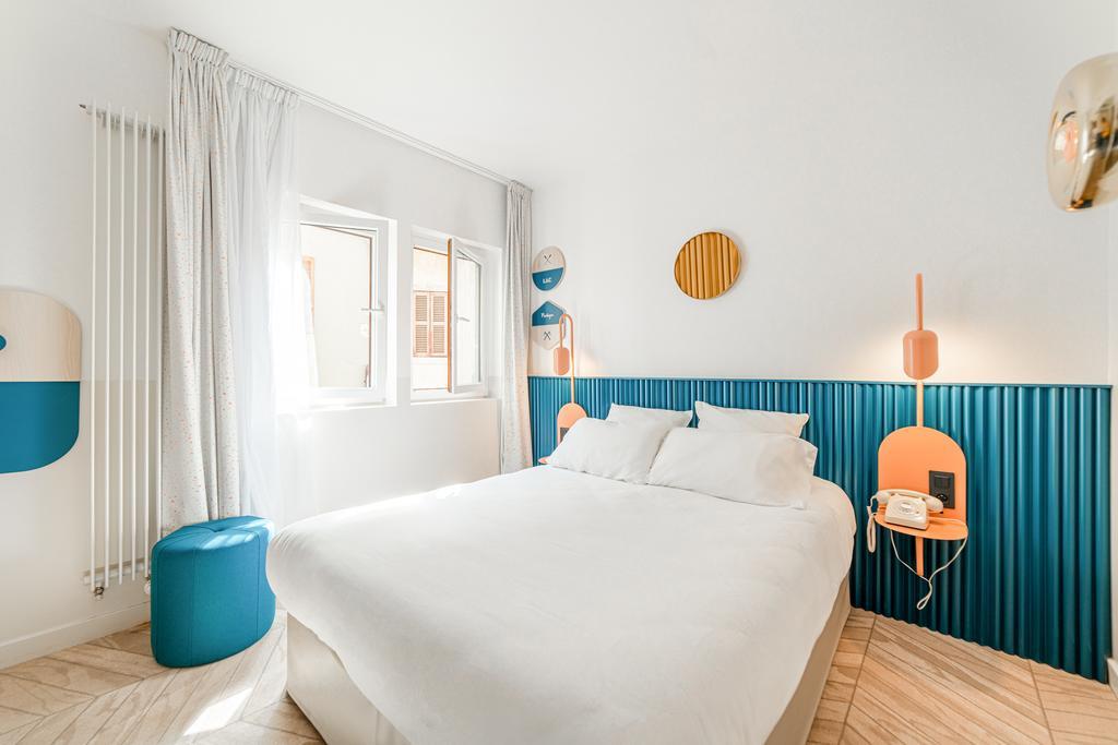 Une chambre de l'hôtel du Palais de l'Isle à Annecy