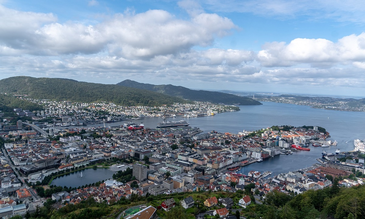 Panorama sur Bergen et ses environs