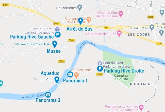 Points d'intérêt pour la visite du Pont du Gard
