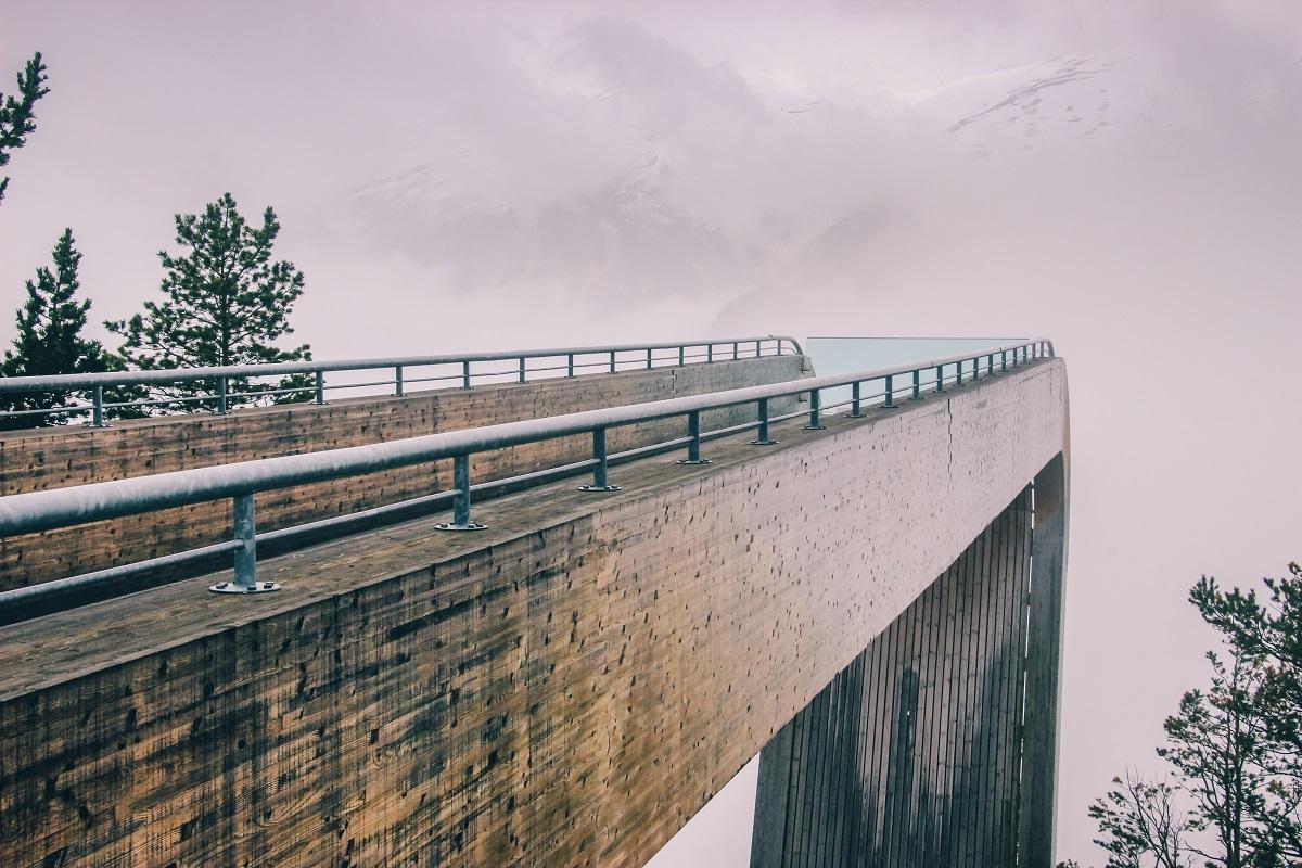 Point de vue du Stegastein en Norvège
