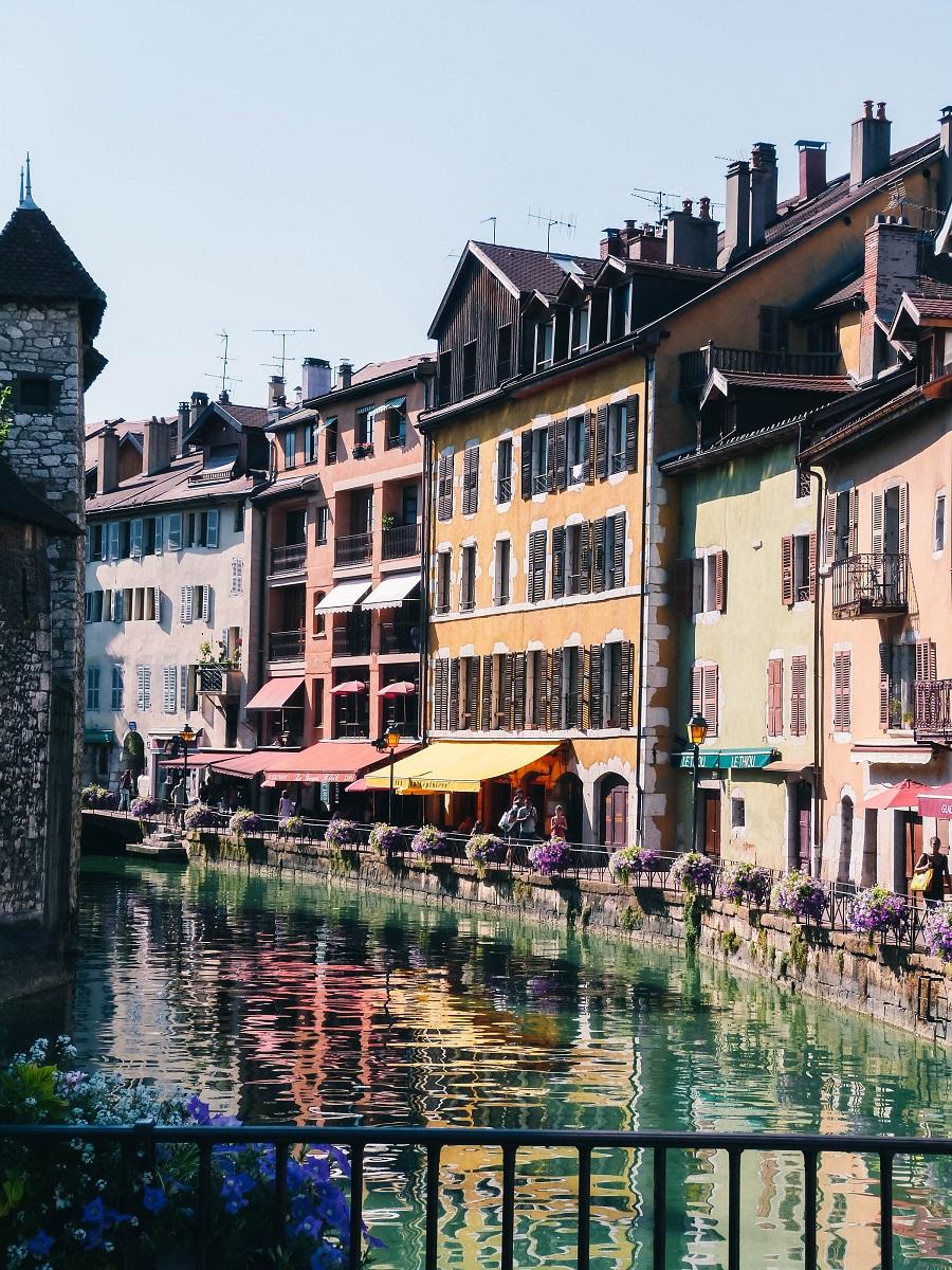 Dans la vieille-ville d'Annecy