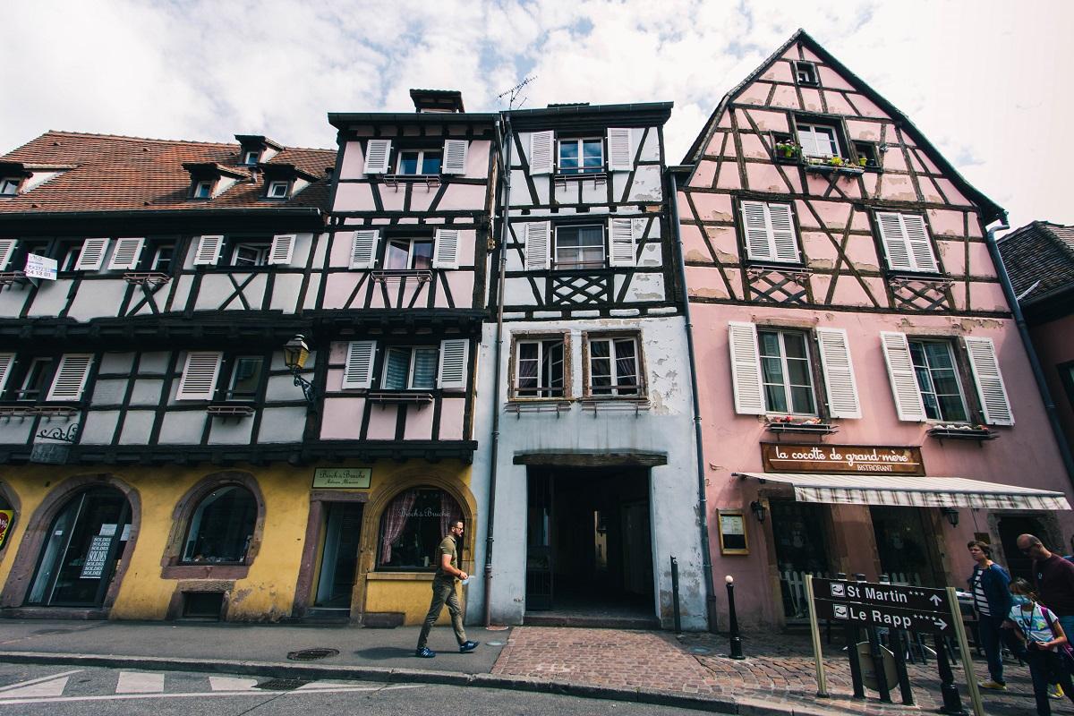 Façades colorées dans Colmar