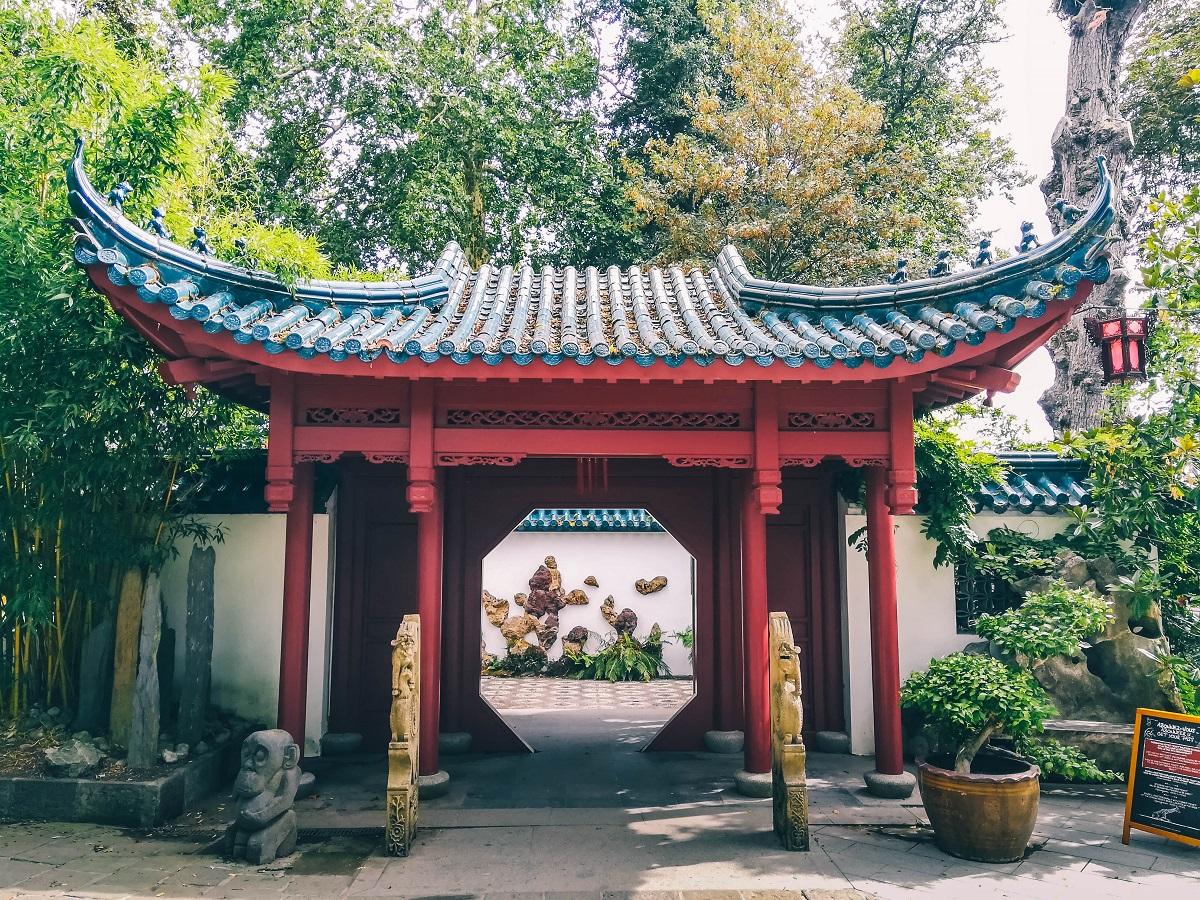 Dans le jardin chinois de Pairi Daiza