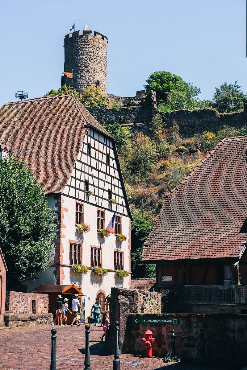 Kaysesberg et les vestiges de son château