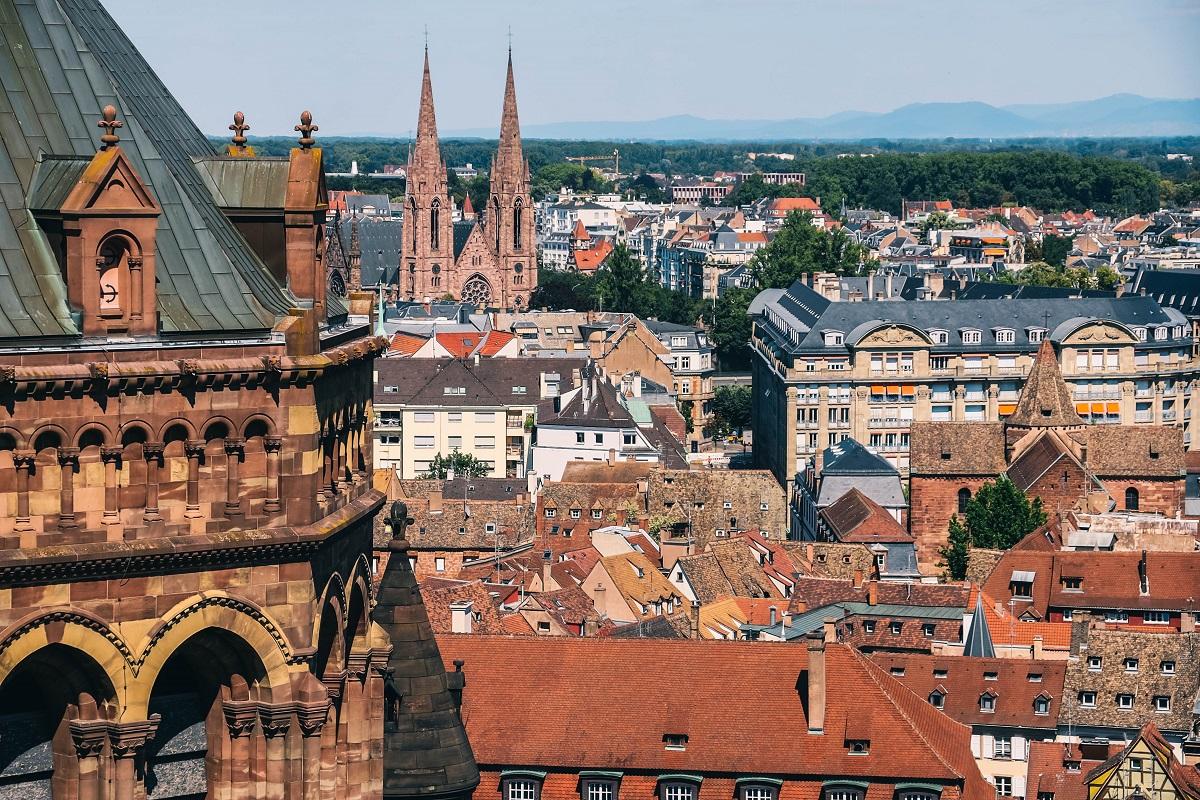Panorama sur Strasbourg depuis la cathédrale