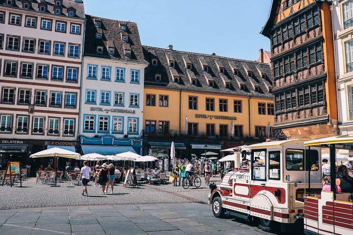 Petit train touristique dans Strasbourg