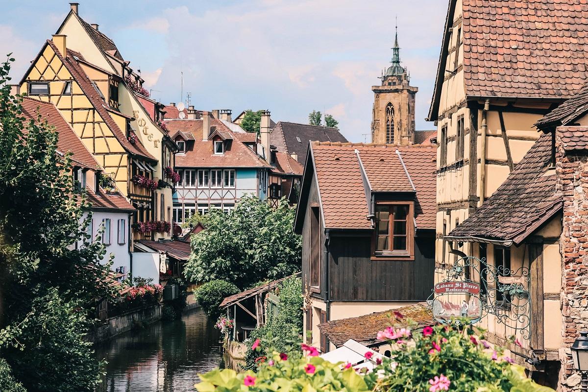 Vue depuis un pont à Colmar