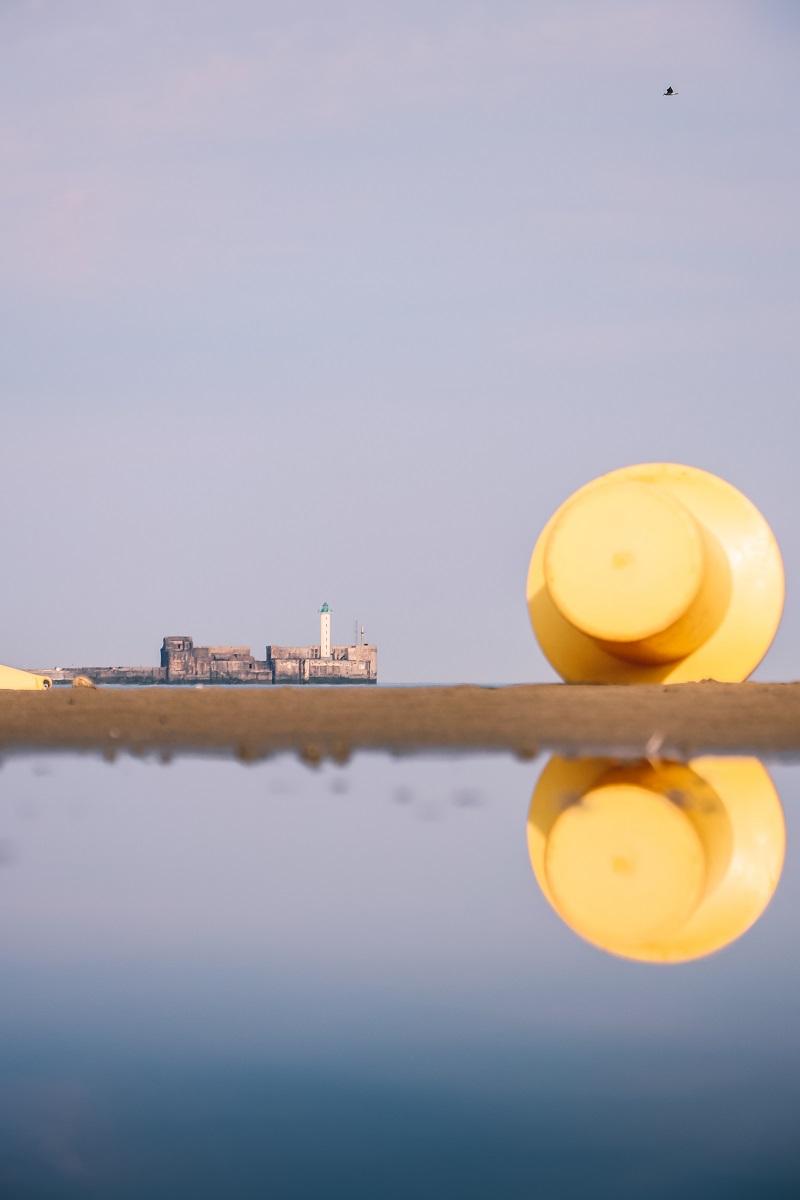 Reflets sur la plage de Boulogne sur Mer