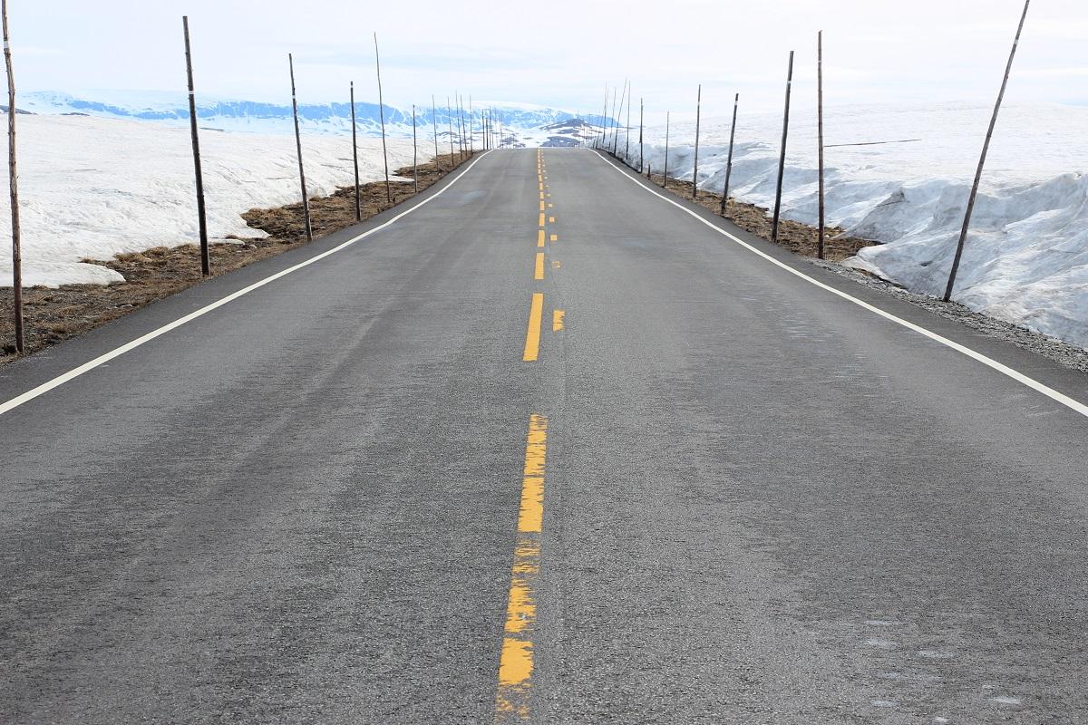 Route dans le sud de la Norvège