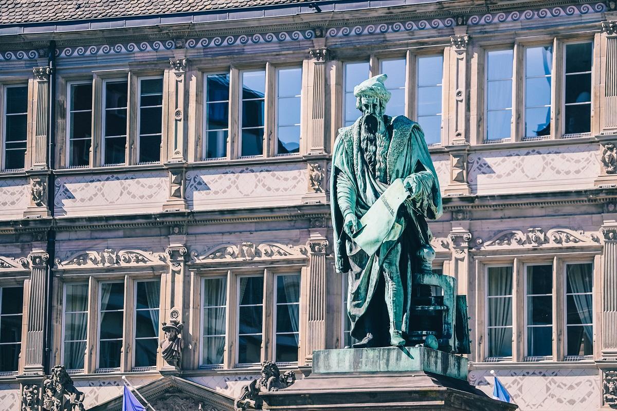 Statue de Gutenberg à Strasbourg