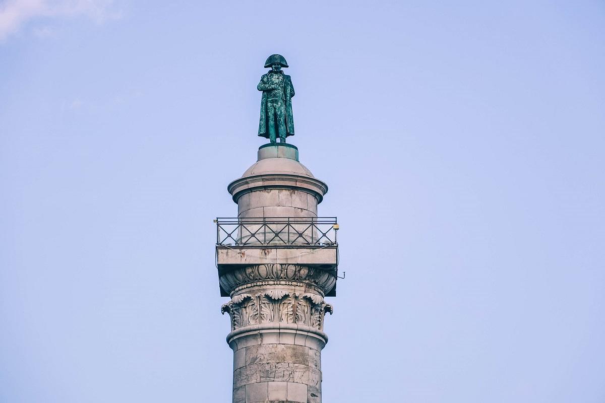 Statue de Napoléon sur la Colonne de la Grande Armée