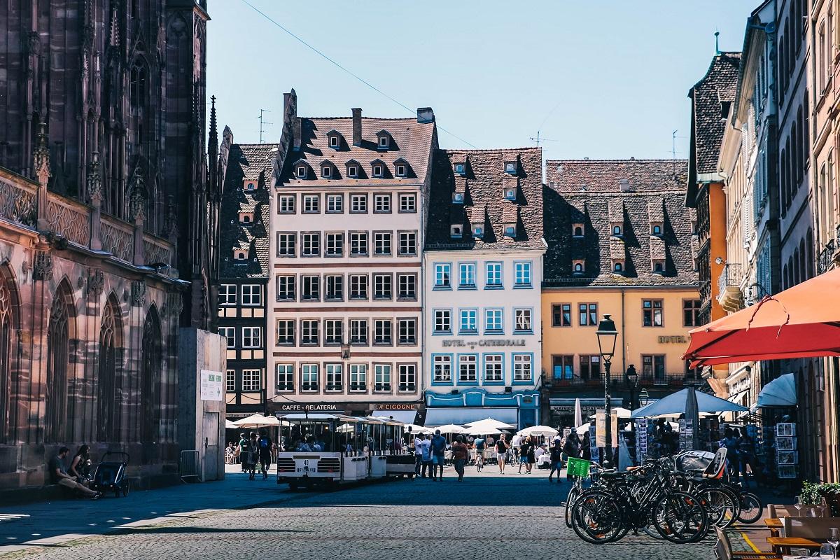 Place de la cathédrale à Strasbourg