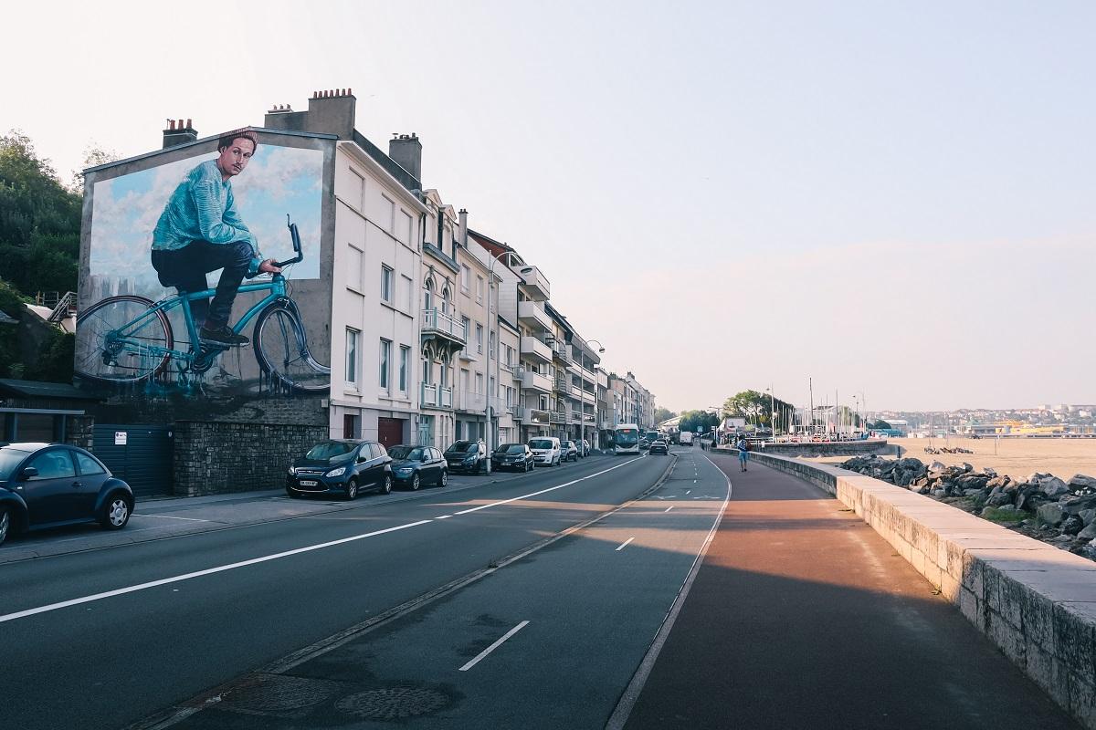 Street-art près de la plage à Boulogne sur Mer