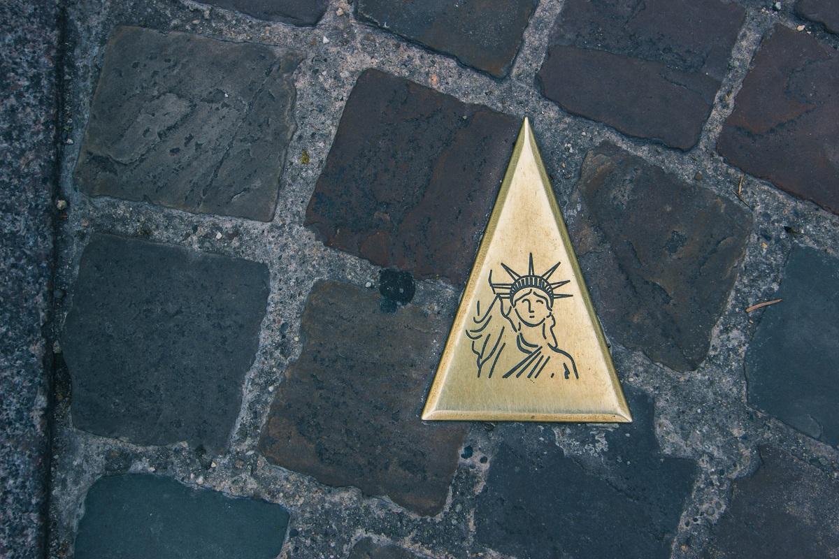 Symbole de statue de la Liberté dans Colmar