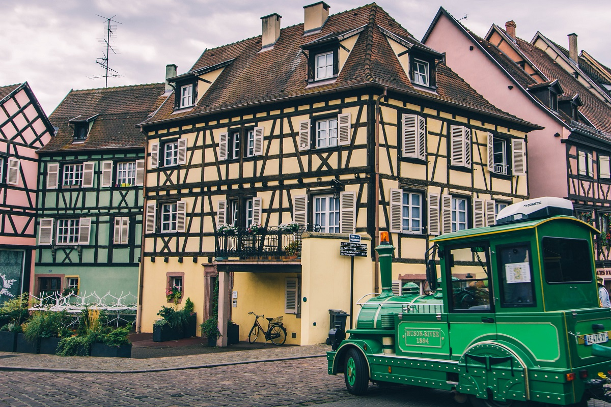 Train touristique pour visiter Colmar