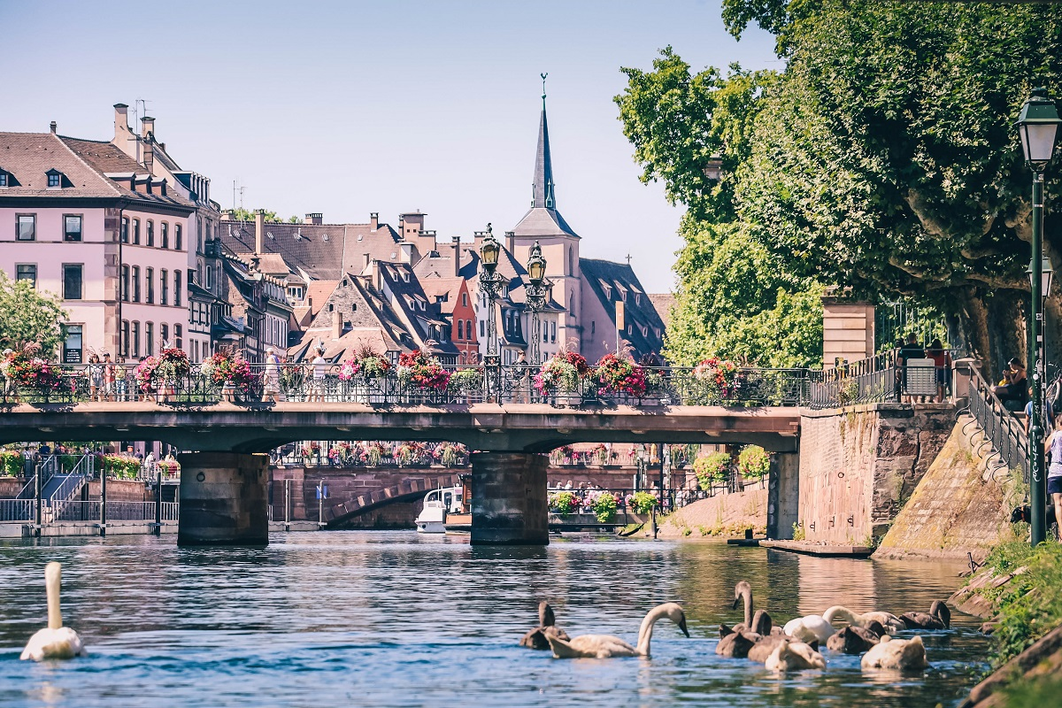 La rivière de l'Ill à Strasbourg