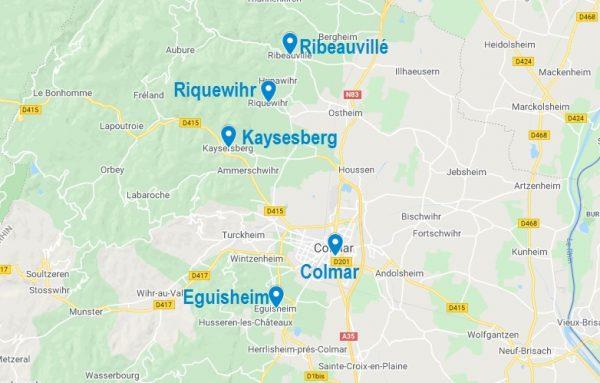 Carte de Airbnb à Colmar et ses alentours