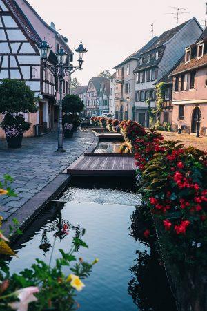 Dans le village de Barr en Alsace