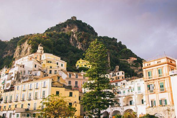 Bâtiments colorés d'Amalfi