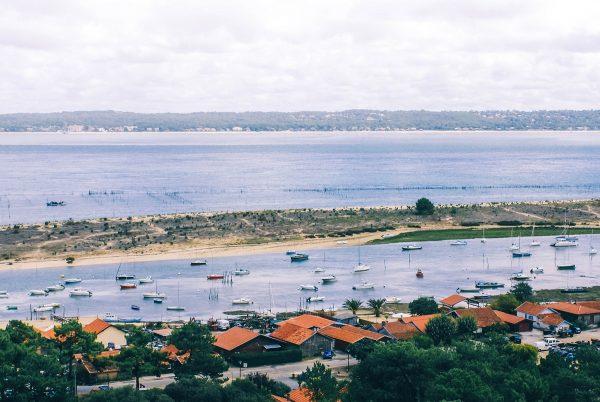 Bassin d'Arcachon vu depuis le Cap Ferret