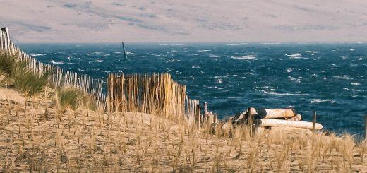 Vue sur la dune du Pilat depuis la Pointe du Cap Ferret