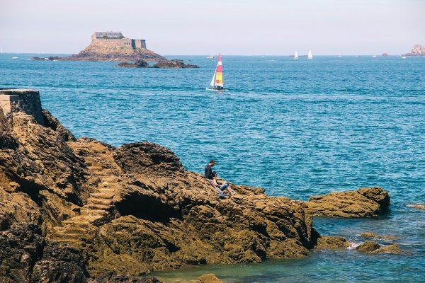 La mer à Dinard