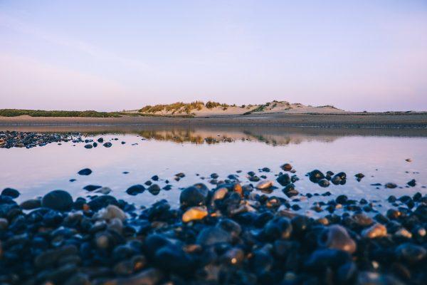 Au bord de la baie de Somme sur la plage du Hourdel