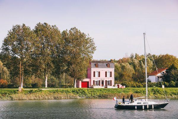 Maison rose à Saint-Valery-sur-Somme