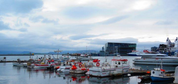 Port de Reykjavik, l'une des zones où dormir en Airbnb à Reykjavik
