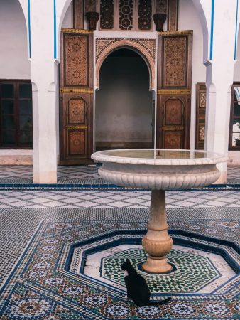 Patio d'un riad à Marrakech