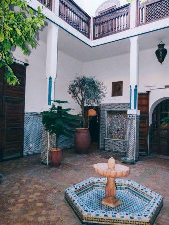 Dans un riad à Marrakech