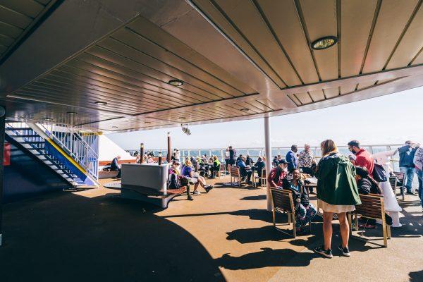 A bord d'un ferry pour l'Angleterre depuis la France