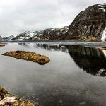 Le lac d'Hunnevatn dans le sud de la Norvège