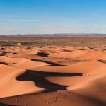 Les dunes du désert de Merzouga, ou Erg Chebbi