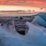 """La """"Diamond Beach""""au lever de soleil : l'un des moments forts de mon voyage en Islande !"""